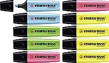 Marcador fluorescente STABILO BOSS Original - Caja con 10 marcadores - Varios colores