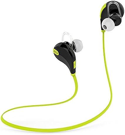 Generic QY7 inalámbrico Bluetooth 4.1 auriculares estéreo deporte running auriculares Música auriculares manos libres teléfono auriculares fone de ouvido con micrófono verde: Amazon.es: Electrónica