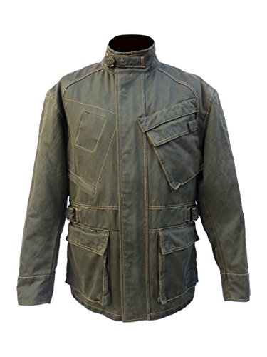 Waxed Cotton Motorcycle Jacket - 9