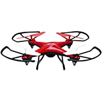 SkyRider DCR377R Falcon 2 Pro Quadcopter Drone with Video Camera (Red)