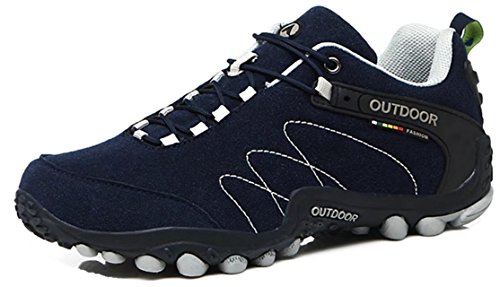 ANBOVER Unisex Waterproof Breathable Hiking Boot Cross-Country Shoes Navy YJyhHjG