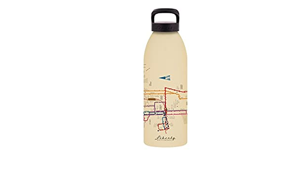 Liberty Bottleworks Los Angeles Mass Transit Aluminum Water Bottle Made in USA