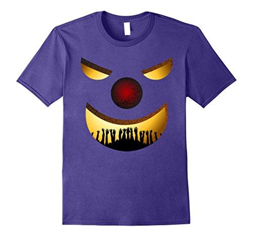 Mens Creepy Clown Halloween TShirt Horror Funny Costume Gift Idea 2XL (Clown Costume Ideas)