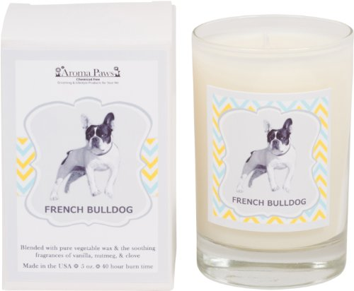 Price comparison product image Aroma Paws Breed Candle in Glass with Gift Box,  French Bulldog