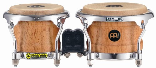 Meinl Percussion FWB100SNT-M Mini Rubber Wood Bongos, 3.25-inch & 4-inch (VIDEO) by Meinl Percussion