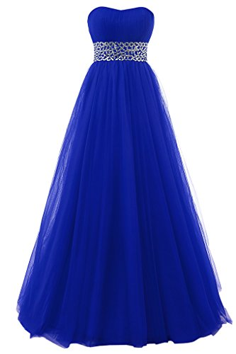 Prom Tulle Ball Dressy Star Gowns Royal Dresses Quinceanera Blue New Beaded Strapless 8HxIwxtqg