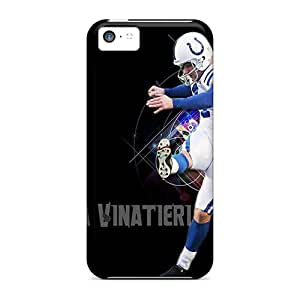 Ultra Slim Fit Hard AngerolaWalmaka Cases Covers Specially Made For Iphone 5c- Indianapolis Colts