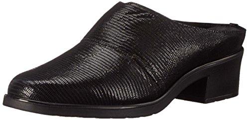 Walking Cradles Women's Caden Mule New Black Lizard Patent Print Leather