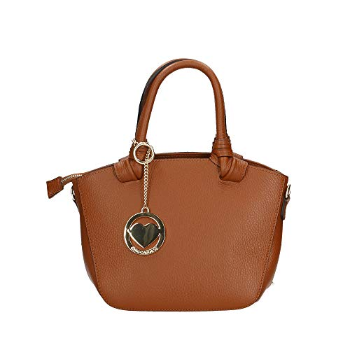 Cuero Piel In 24x18x14 Genuina Italy Borse Chicca Cm Bag Bolso Made En ICP1Fwxq