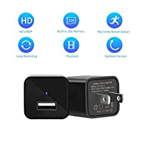 Hoicmoic Hidden Camera, 1080P HD Spy Camera USB Wall Charger, Spy Camera Adapter with 32G Internal Memory Motion Detection