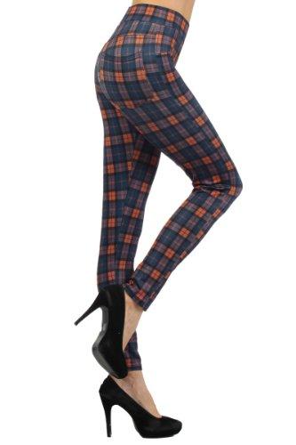 fashion MIC Women's Plaid Slim Fit Pants - Multiple Style, Colors (M, - Preppy 90s