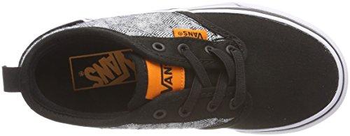 Vans Atwood Slip-On, Zapatillas Sin Cordones Unisex Niños Negro (Checkered Textile)