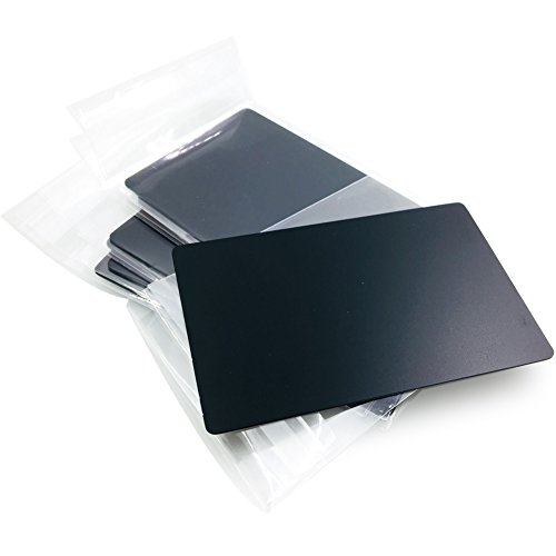 Stainless Steel Business Cards - Ebamaz Metal Business Cards Anodized Aluminum Plaque Plate 86X54X0.8mm (Black, Blank,10PCS)