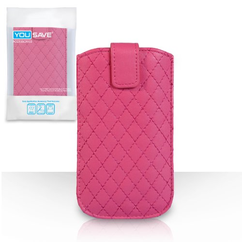 Coque iPhone 5 Etui Rose Chaud Diamant PU Cuir Pochette Housse Avec Tirez Onglet