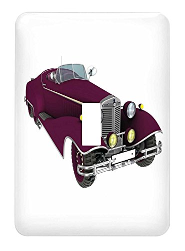 3dRose lsp_218631_1 Maroon Classic Convertible Car - Single Toggle Switch