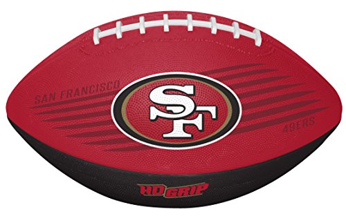 San Fan Francisco Nfl 49ers (Rawlings NFL San Francisco 49Ers 07731084111NFL Downfield Football (All Team Options), Red, Youth)