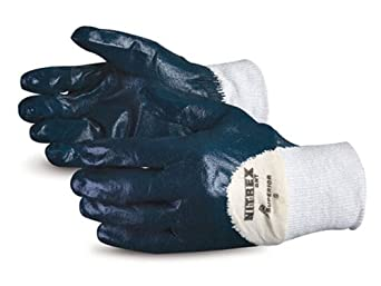 Superior GNT Nitrex Cotton Glove with 3/4 Nitrile Palm Coat, Work, Size 7, Red (Pack of 1 Dozen)