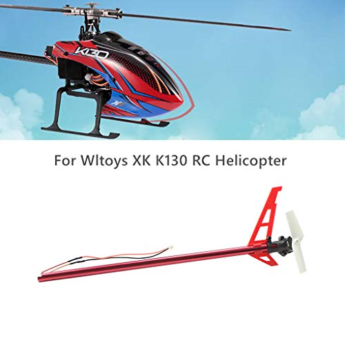 RC Drone Quadcopter Kits, Fdrone Brushless Tail Motor with Tail Tube Set Part Compatible with Wltoys XK K130 RC Helicopter Black