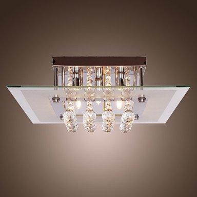 MK- Lámpara de Techo de Cristal Estilo Contemporáneo con 5 Luces en ...