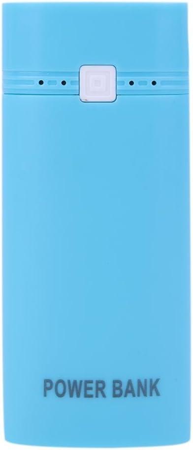 LiChiLan Power Bank - Caja de plástico para 2 baterías 18650 (extraíble), BlueLED: Amazon.es: Deportes y aire libre