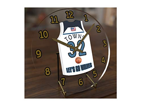 (FanPlastic N B A Basketball Jersey Themed Clock - All Western Conference N B A Team Colours - Our Very OWN 'Let's GO' Range of Clocks !! (Let's Go Timerwolves Edition))