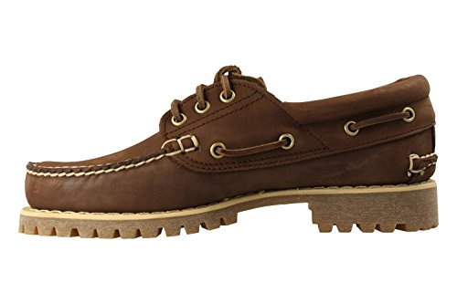 Timberland Authentics 3 Eye Dk Brn CA1JBR, Zapatos del barco Marrón