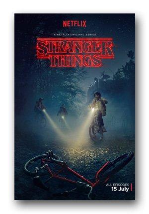 Stranger Things Poster - TV Bike Drop
