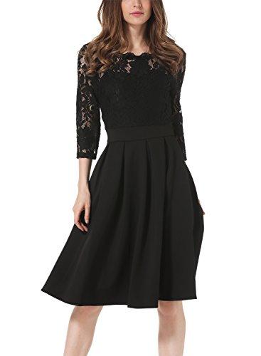 Buy below the knee black dress - 5