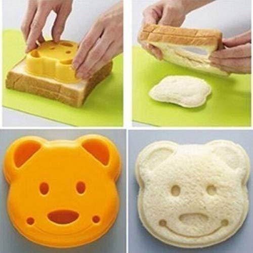 Perfect shopping New Little Bear Shape Sandwich Bread Cake Mold Maker DIY Mold Cutter Craft
