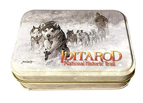 (Arctic Circle Alaska Iditarod Dog Mushing Dog Team Playing Cards Deck Novelty Tin Box Jon Van Zyle)