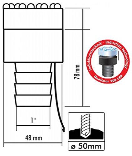 1 Anschluss Seliger Quellsteinbeleuchtung Quellstar 900 LED 78 x /Ø 48 mm Mehrfarbig