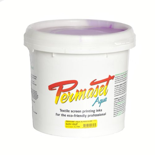 Permaset Aqua Supercover 4 Litre Fabric Printing Ink - Glow Violet by OfficeMarket