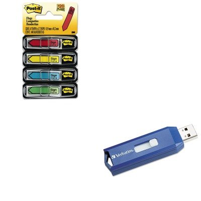 KITMMM684SHVER97086 - Value Kit - Verbatim Classic USB 2.0 Flash Drive (VER97086) and Post-it Arrow Message 1/2amp;quot; Flags (MMM684SH) -