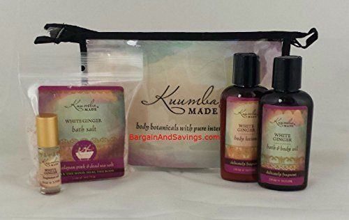 Treasures White Collection - Kuumba Made Four (4) Treasures Collection Gift Set (White Ginger)