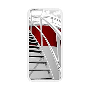 IPhone 6 Plus Cases Round Stairs, Iphone 6 Plus Case 5.5inch - [White] Cathyathome