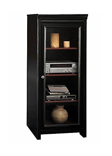 Bush Furniture Stanford Audio Cabinet, Antique Black/Hansen Cherry ()
