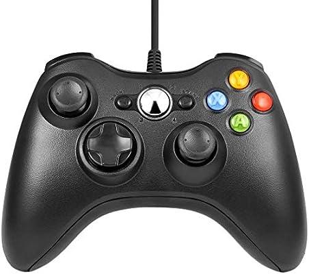 Etpark Mando Xbox 360, PC Mando USB Controlador de Gamepad Joystick de juegos Joypad para Xbox