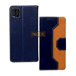 Niger Multicolor Leather Flip Cover with Card Holder for Realme 8