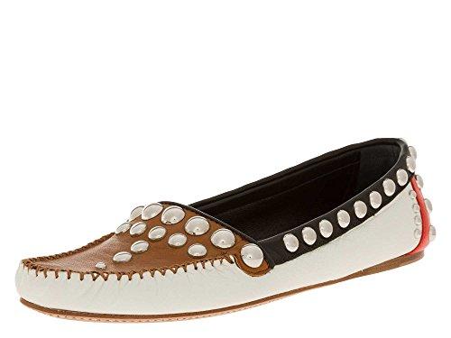 Mocassino 8445i Women Panna Nero Scarpa Loafer Shoes panna Prada nero Donna Marrone Marrone VSpUzM