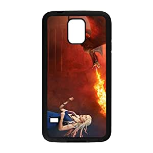 Flame of dinosaur and lovely girl Cell Phone Case for Samsung Galaxy S5