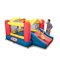 Little Tikes Inflable Jump 'n Slide Bounce House con soplador de servicio pesado