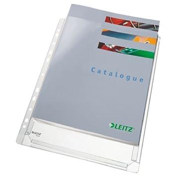 Esselte 47561003 - Fundas para documentos (11 agujeros, 320 x 240 x 10 mm), color transparente bolsa de 5, PVC: Amazon.es: Oficina y papelería
