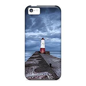 Slim Fit Tpu Protector Shock Absorbent Bumper Lighthouse At The End Of A Stone Pier Case For Iphone 5c