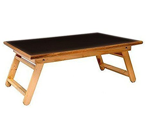 NEW expanding tray table Wooden Black Foldable Table Breakfast Serving (Black Flood Tray)
