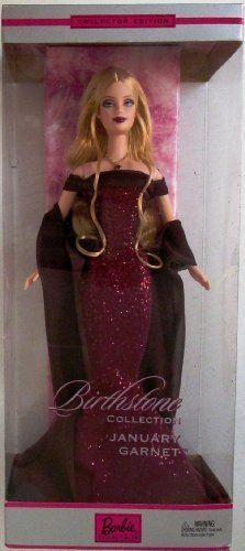 Barbie Birthstone Collection 2002 January Garnet