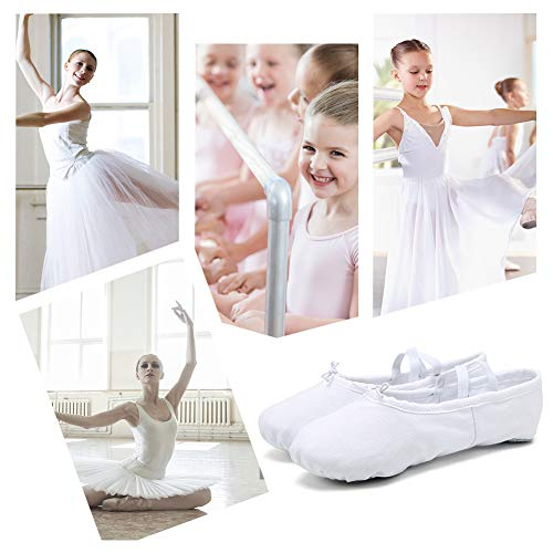 Slippers Flats Shoes White Dance CIOR Ballet Kid Little Canvas Yoga Toddler Women Gymnastics Big 5nRH0Sq0pw