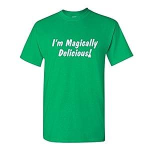 I'm Magically Delicious Funny St Patricks Day T Shirt 2XL Irish Grn