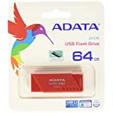 ADATA AUV330-64G-RRD Memoria USB 3.1, 64GB, color Rojo