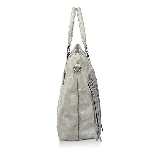Fritzi aus Preußen Tialda Vintage Shopper Tasche 48 cm Pebble lwgnCTK9M