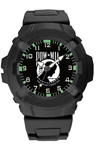 POW MIA Rubber Strap Watch ()